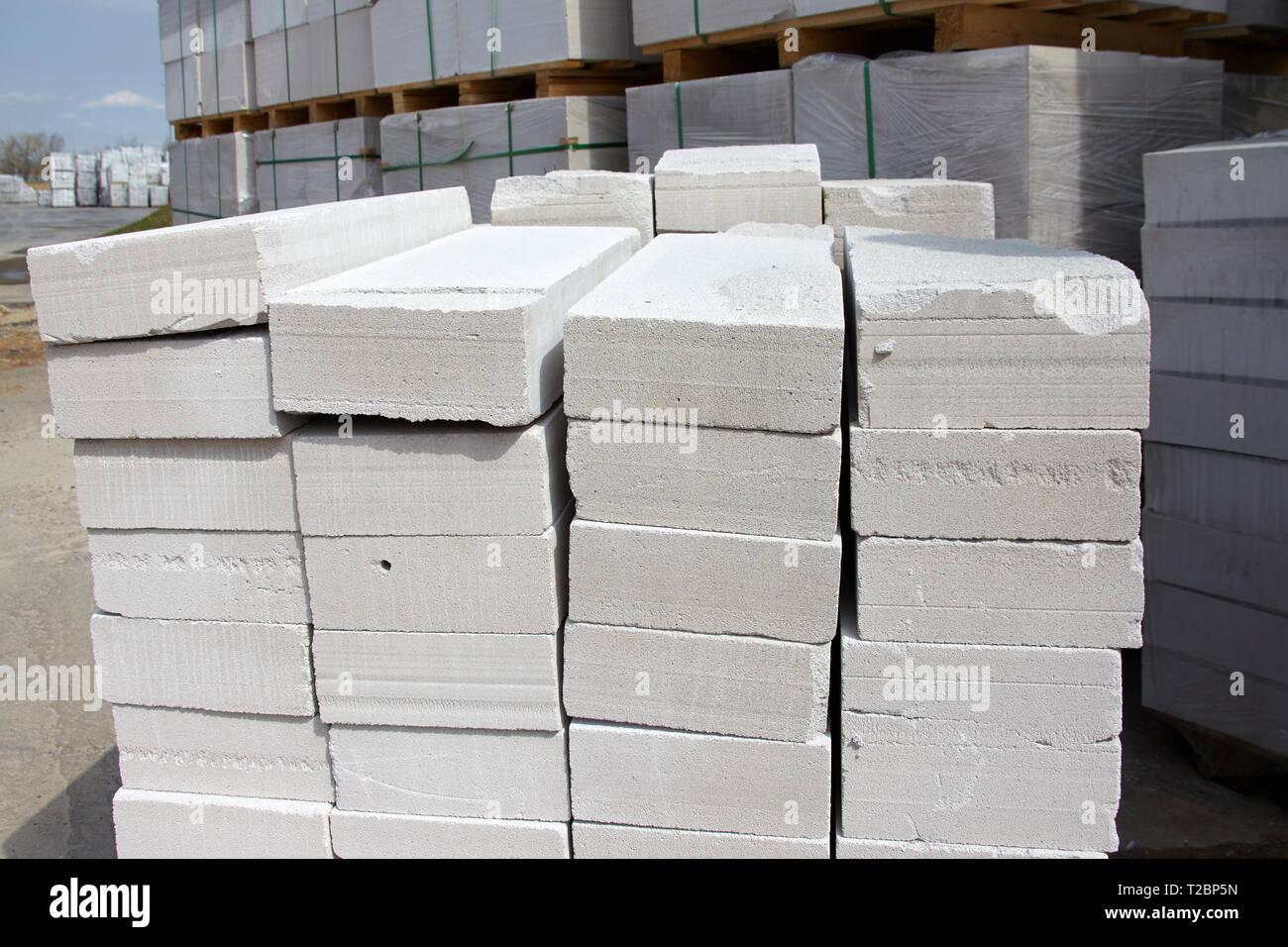 Lightweight Concrete Blocks Stock Photos & Lightweight
