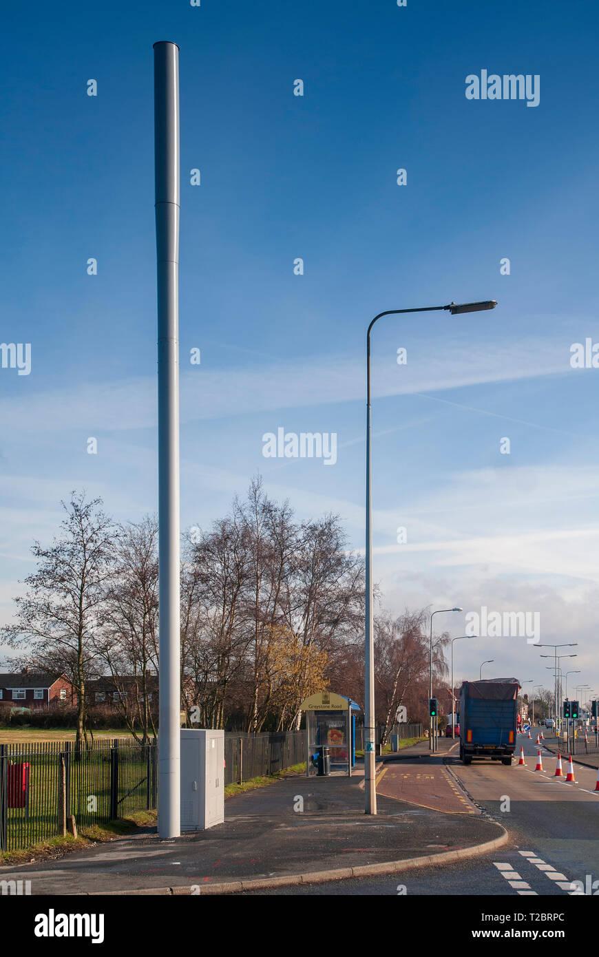 Cellular phone street equipment. - Stock Image