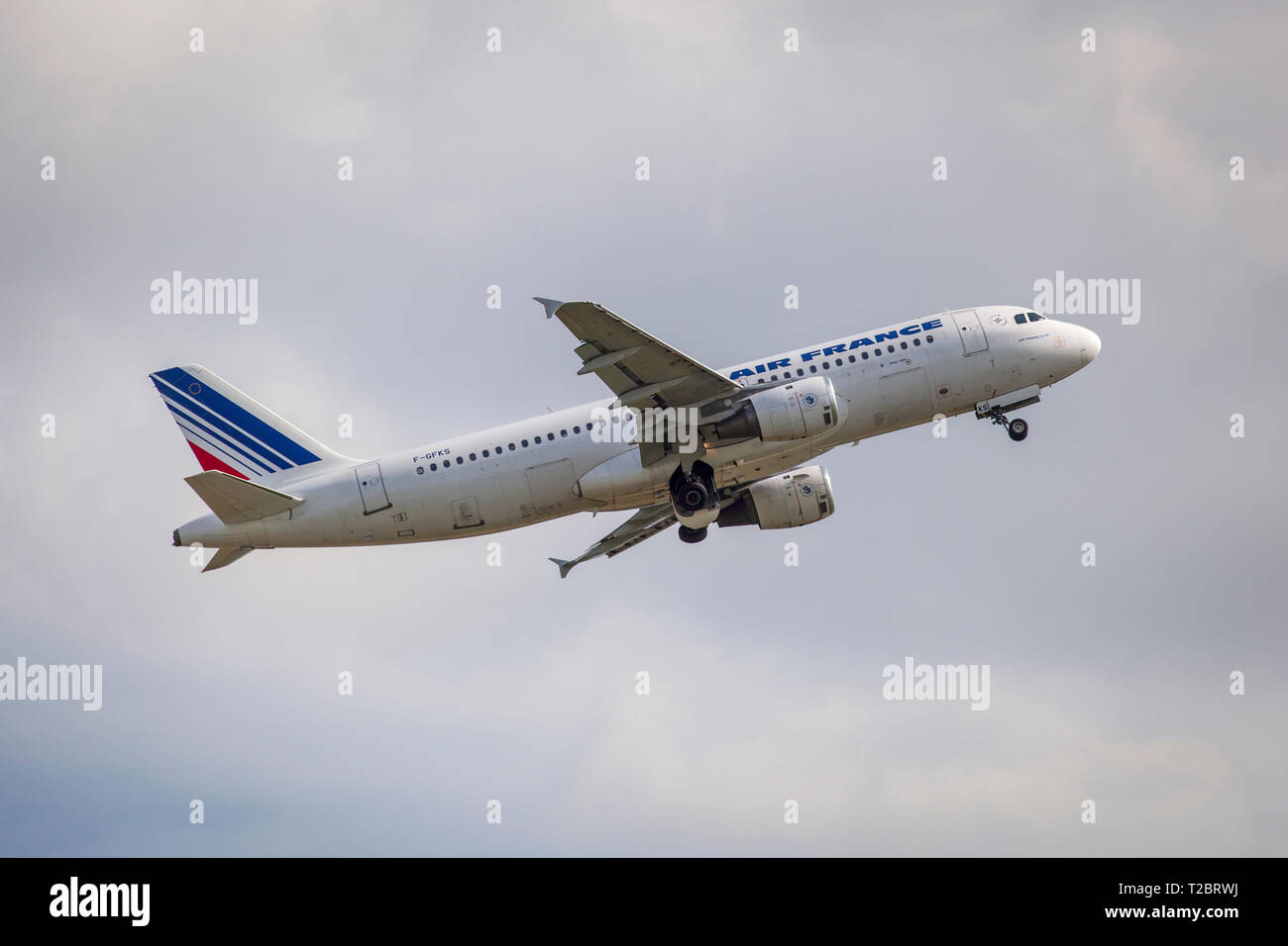 Ai France KLM A320 airbus. - Stock Image