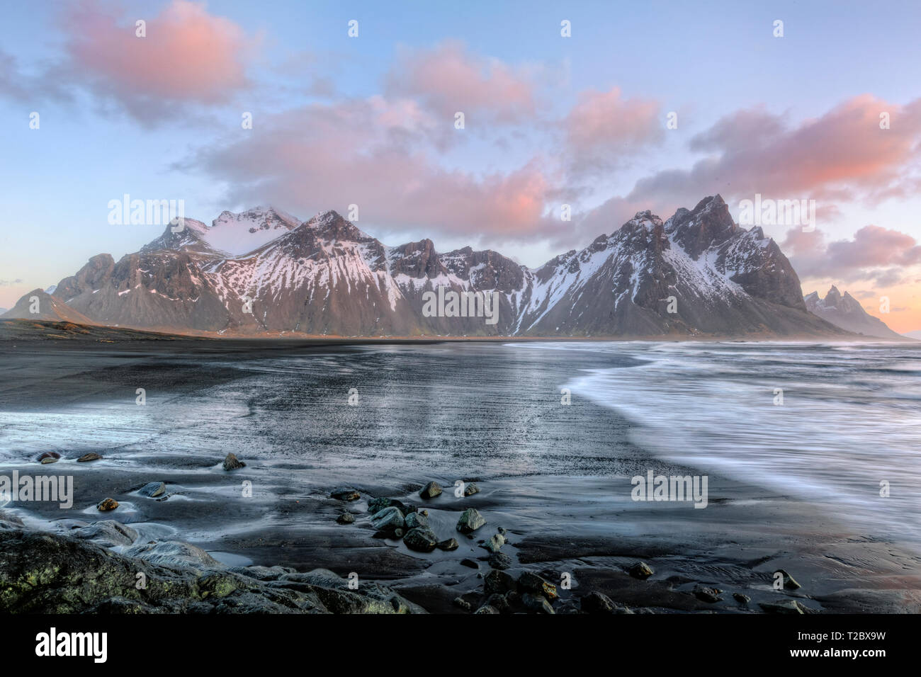 Stokksnes, Hornafjordur, Hofn, South Iceland, Iceland, Europe - Stock Image