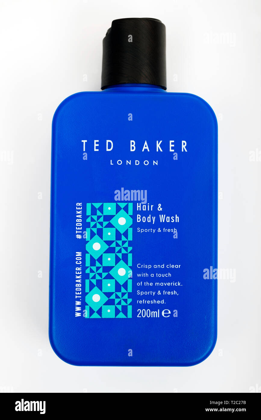 Ted Baker hair and body wash - Stock Image