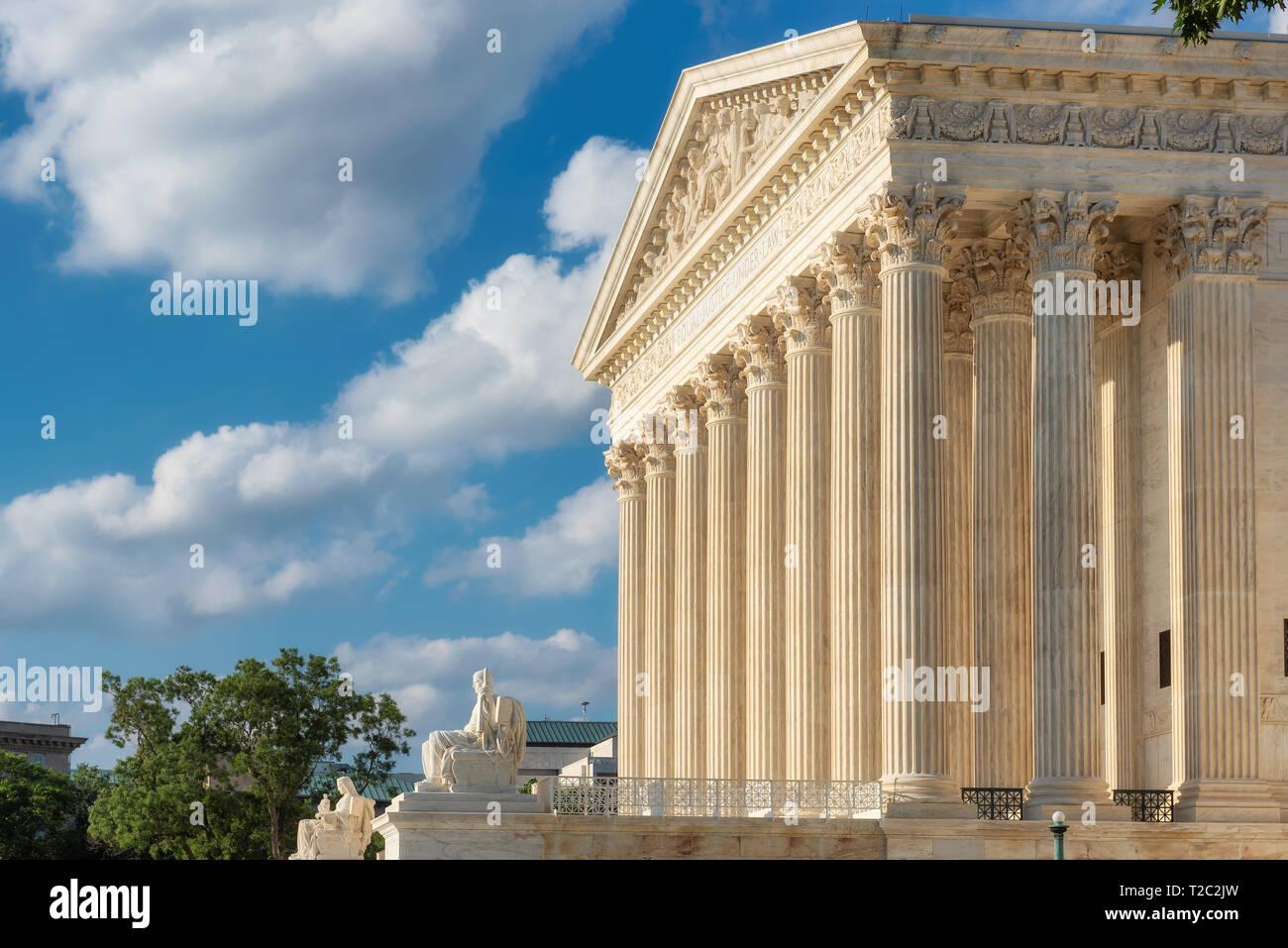 United States Supreme Court Building in Washington DC, USA. Stock Photo