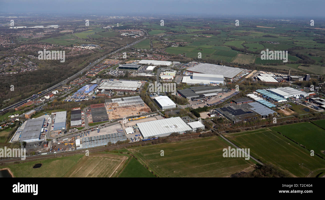 aerial view of Whitehouse Industrial Estate, Runcorn WA7 - Stock Image