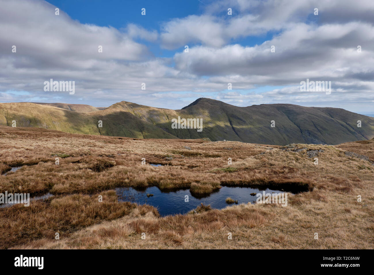 Froswick, Ill Bell and Yoke as seen from near St Raven's Edge, Kirkstone Pass, Lake District, Cumbria - Stock Image