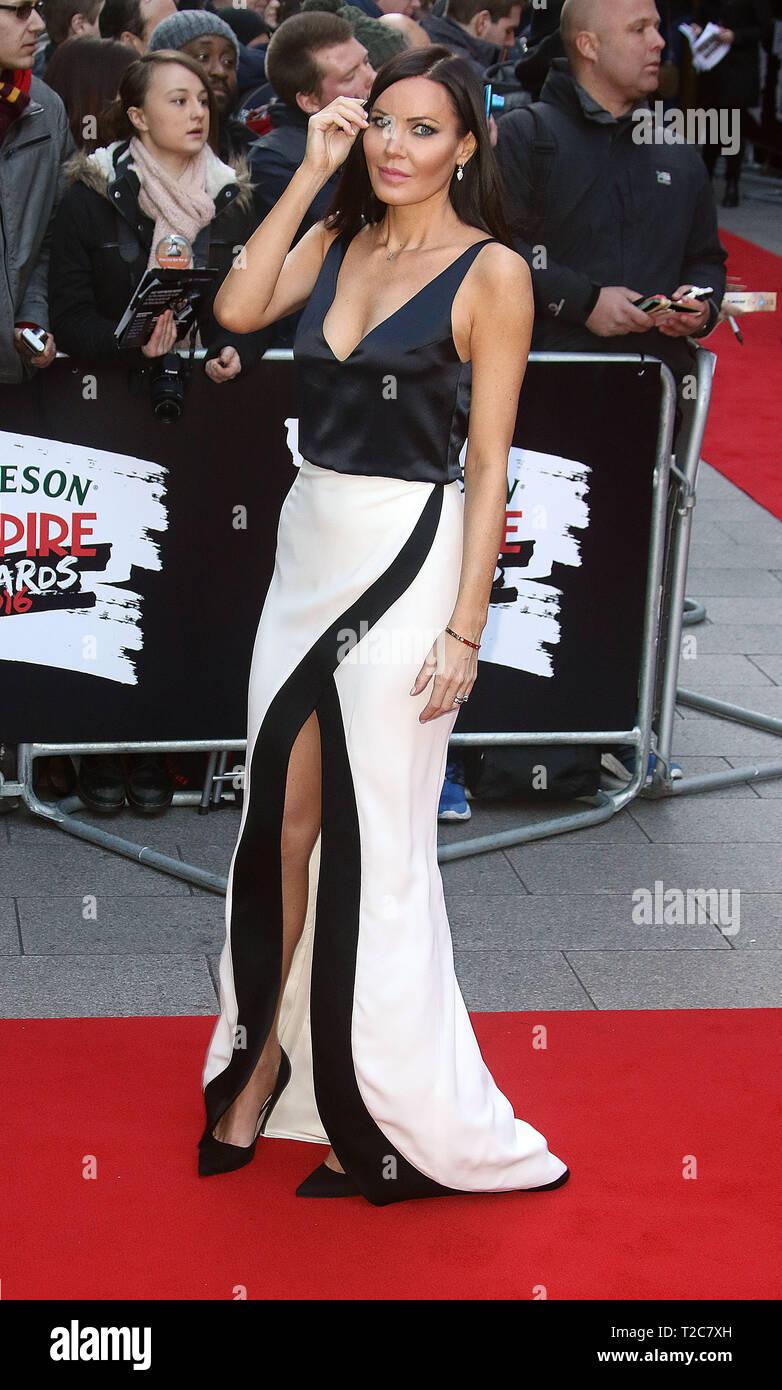 Mar 20, 2016 - London, England, UK - Jameson Empire Awards 2016, Grosvenor House Hotel - Red Carpet Arrivals Photo Shows: Linzi Stoppard - Stock Image