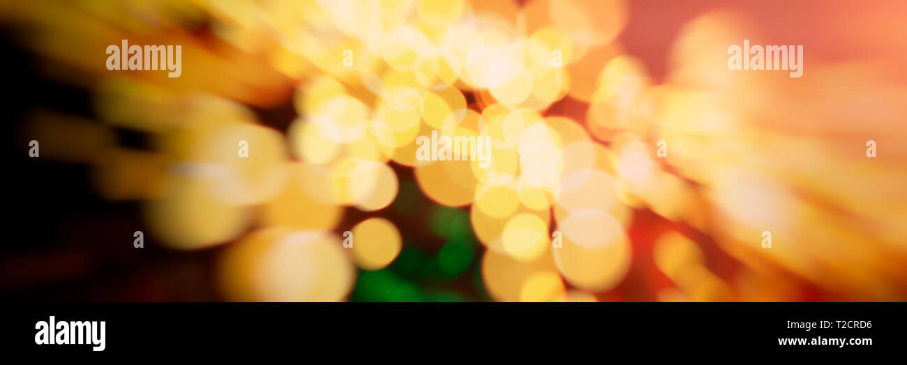 Abstract blurred background of red, yellow, pink, green spots on