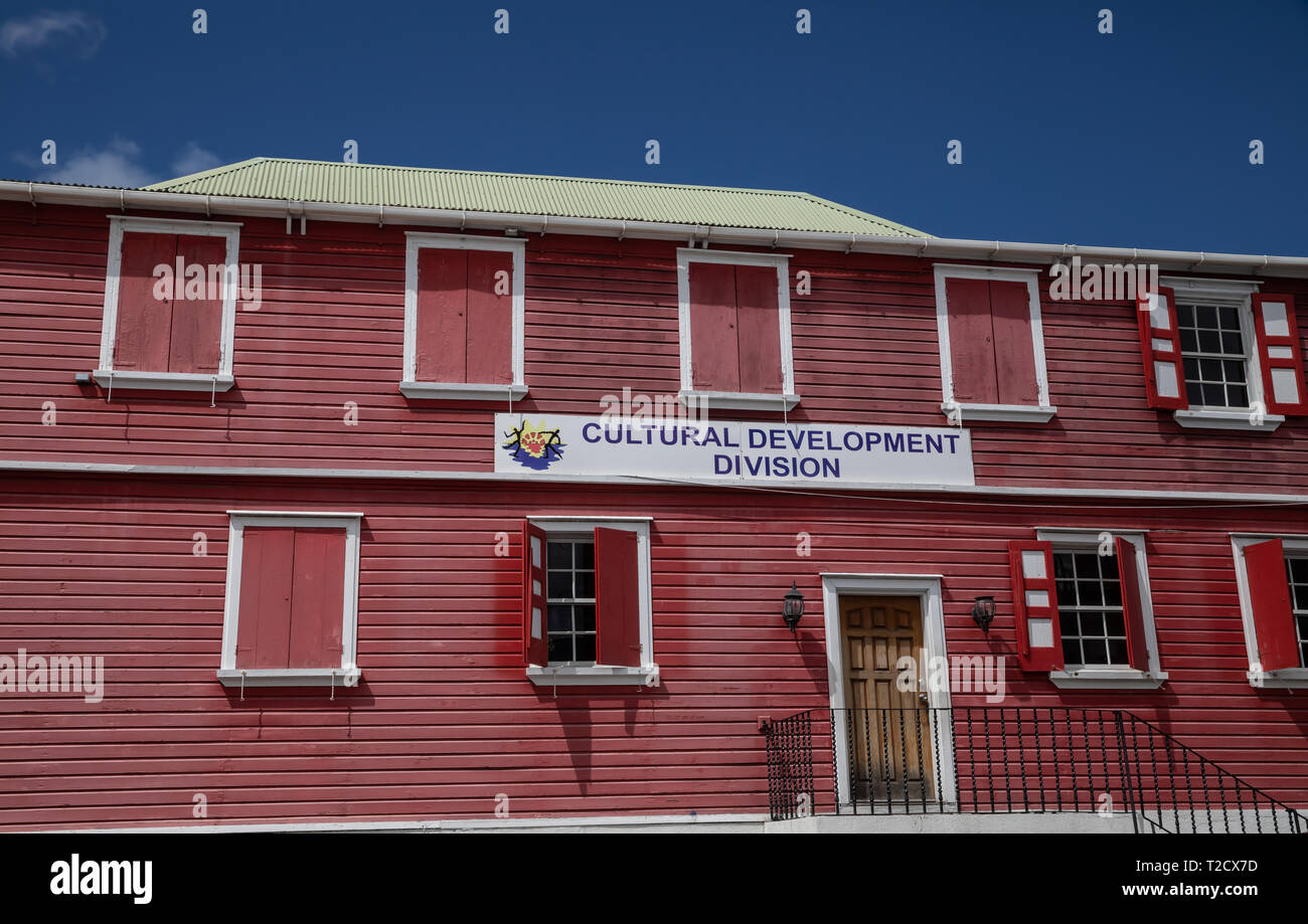 Cultural Development division in Saint John's, Capital of Antigua and Barbuda Stock Photo