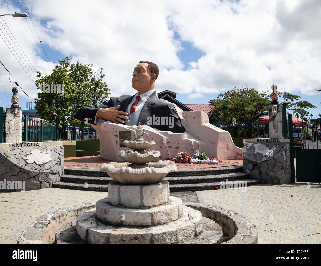 in Saint John's, Capital of Antigua and Barbuda Stock Photo