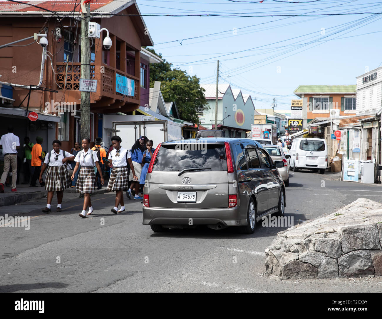 in Saint John's, Capital of Antigua and Barbuda Stock Photo