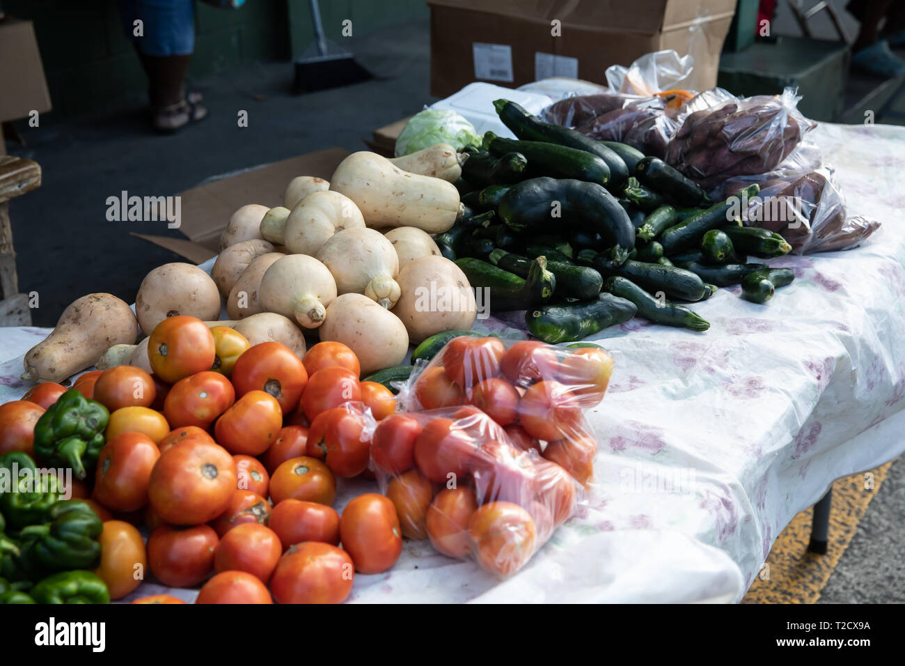 Fruit and Vegetable stall in Saint John's, Capital of Antigua and Barbuda Stock Photo