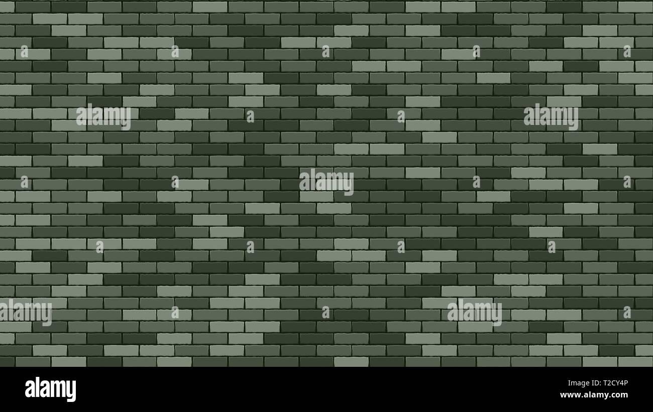 Brik Wall Vector. Green Stone Brik Wall Buidling. Military 23 February Background. Illustration - Stock Vector