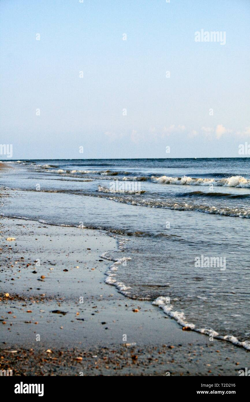 Stretch of coast in South Carolina - Stock Image