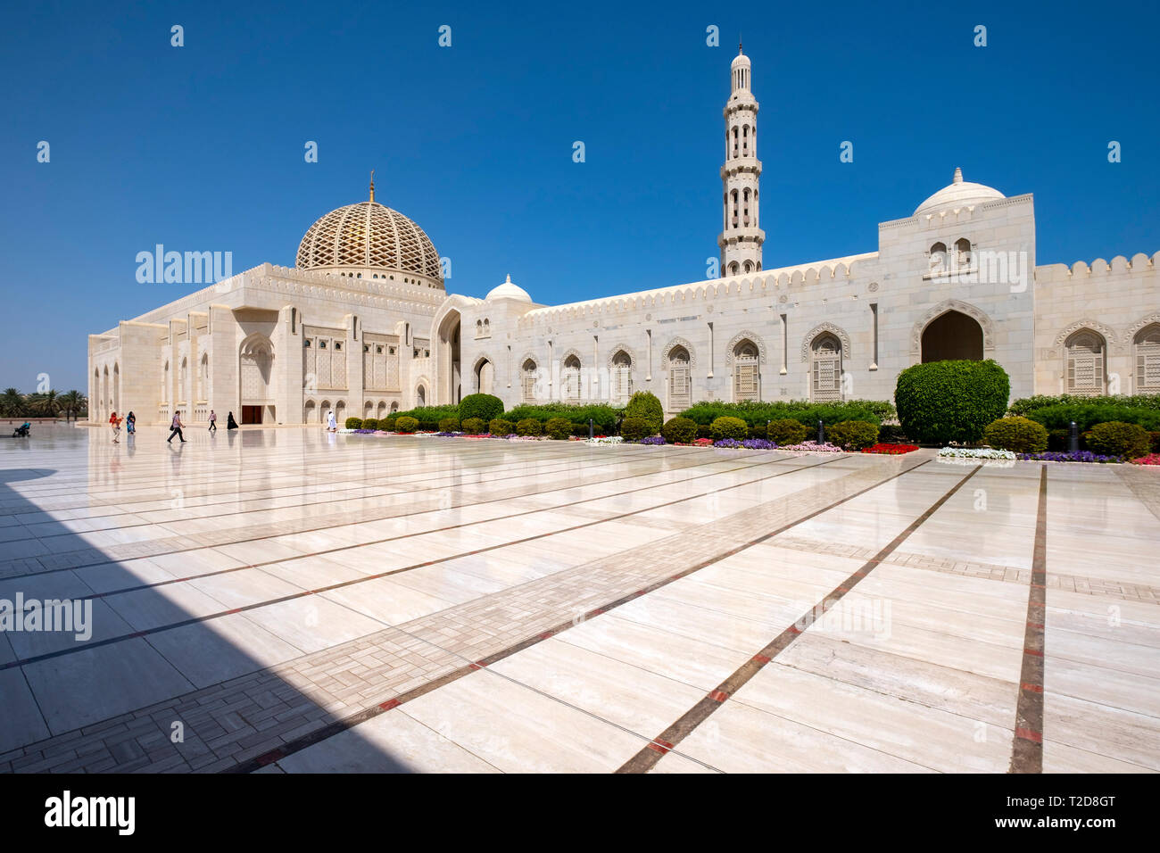 Sultan Qaboos Grand Mosque in Muscat, Oman Stock Photo
