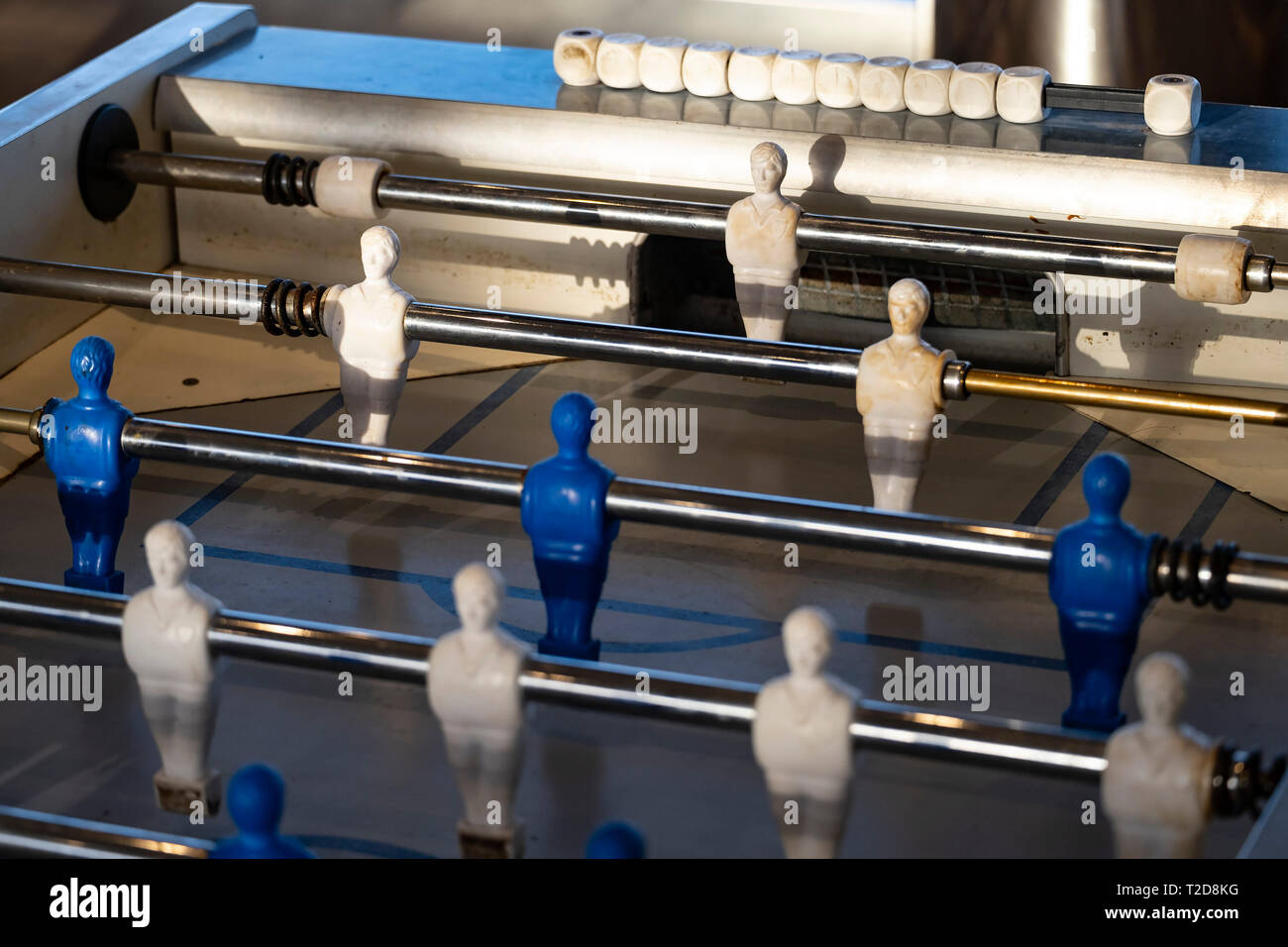 Table football player figures - Stock Image