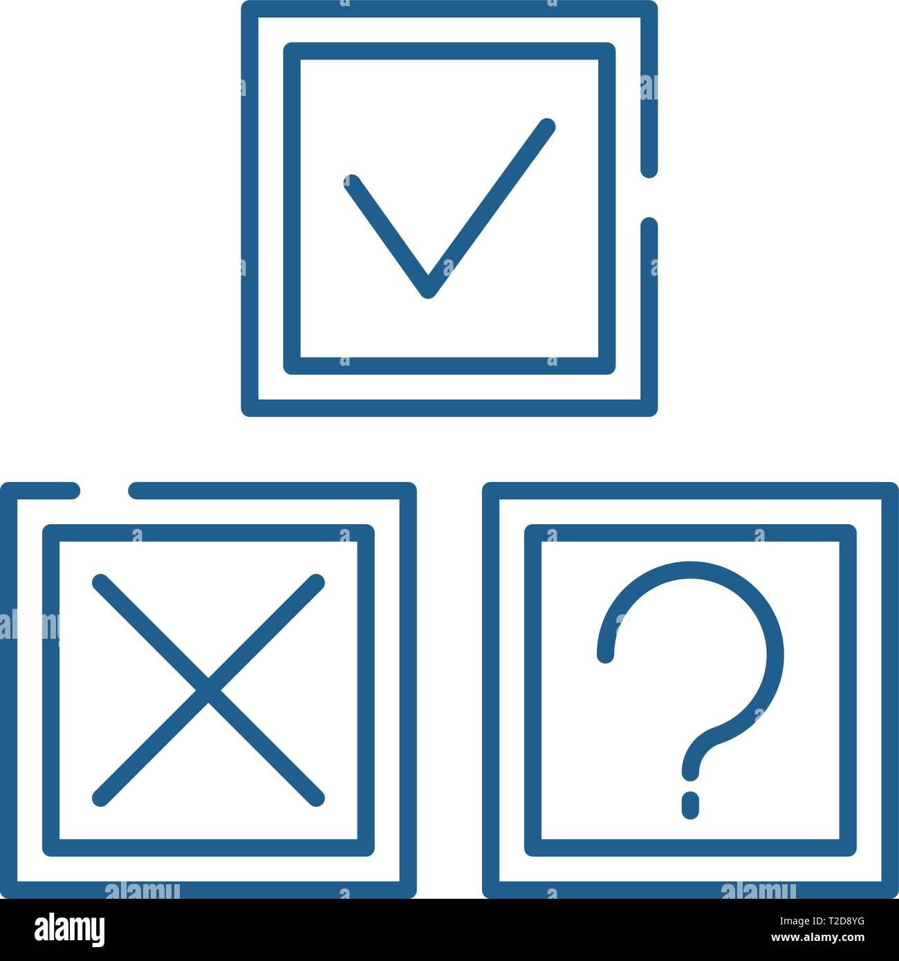Rebus line icon concept. Rebus flat  vector symbol, sign, outline illustration. - Stock Image