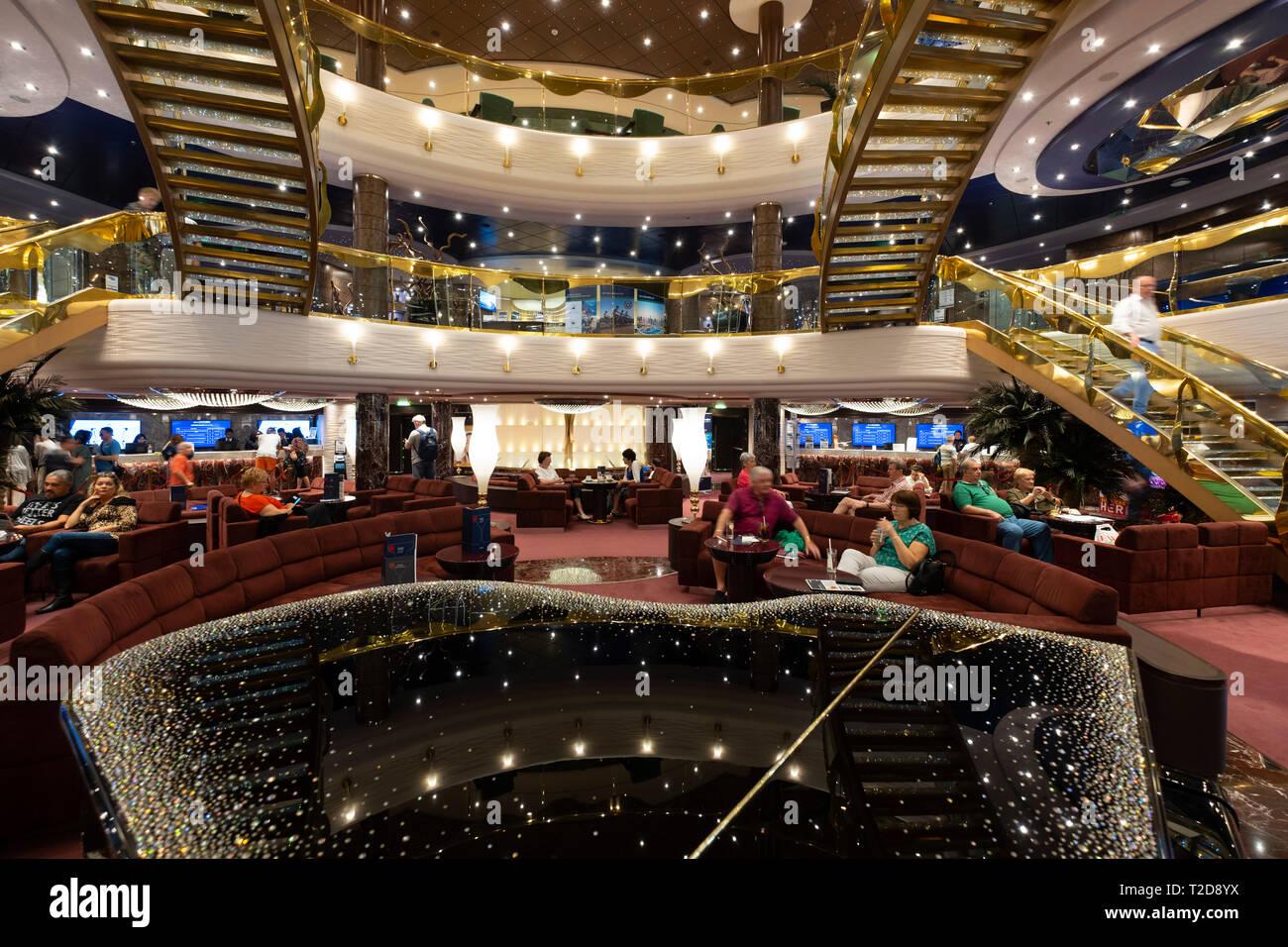 MSC Splendida cruise ship luxurious interior Stock Photo ...