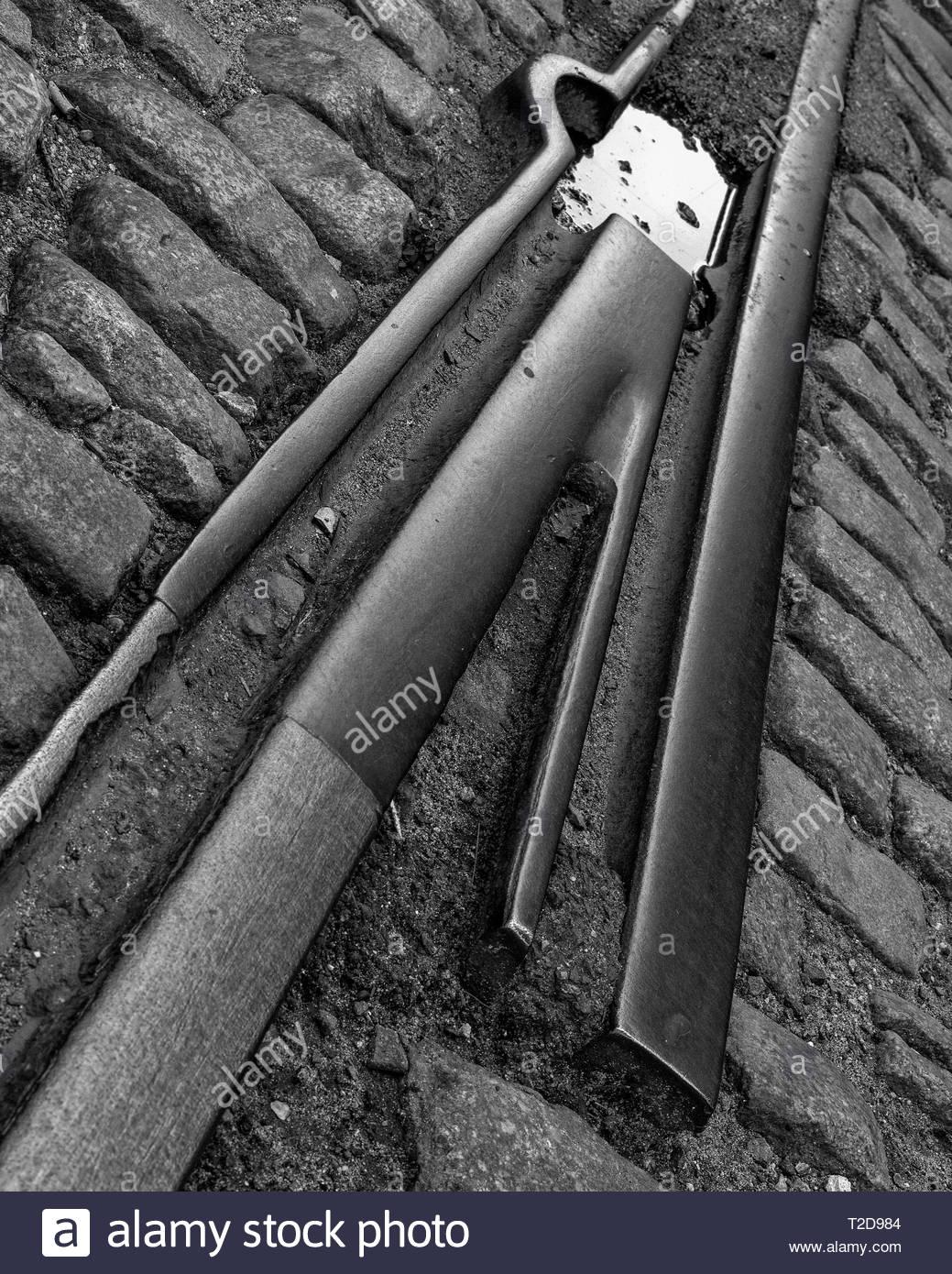 Iron and Granite 1 - Stock Image