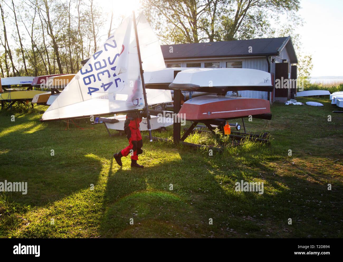 A sailing school. Photo Jeppe Gustafsson - Stock Image