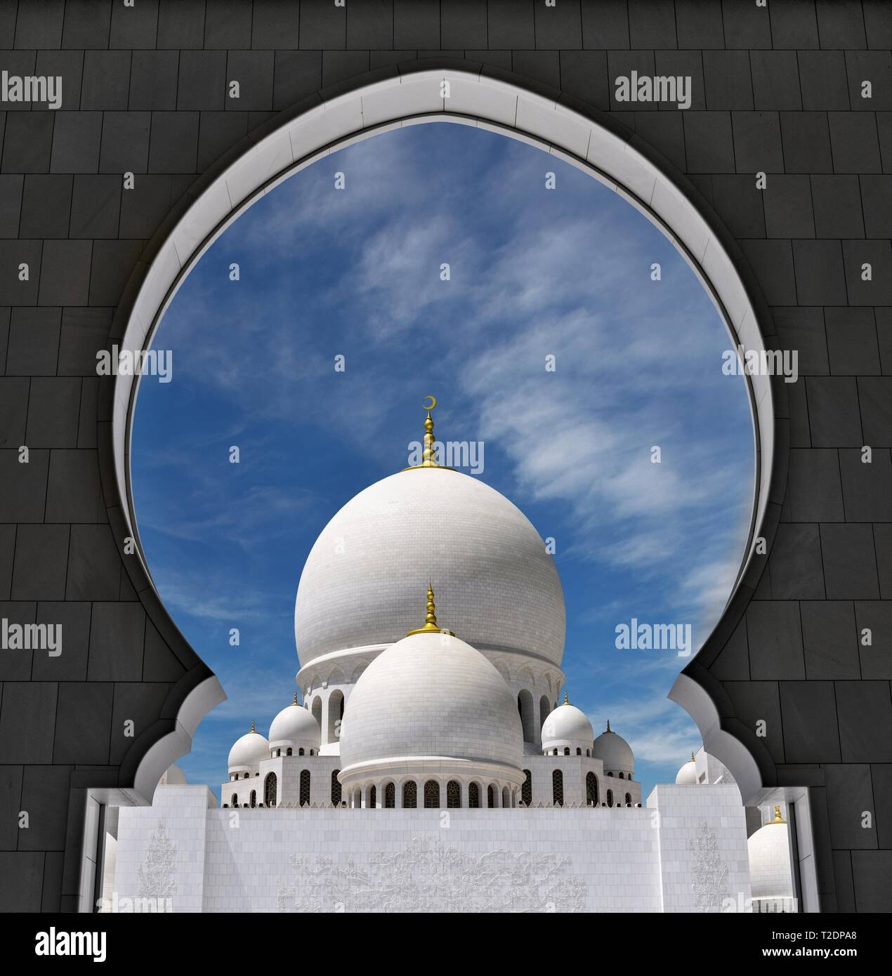 Cupola of the Sheikh Zayed Grand Mosque, Abu Dhabi - Stock Image