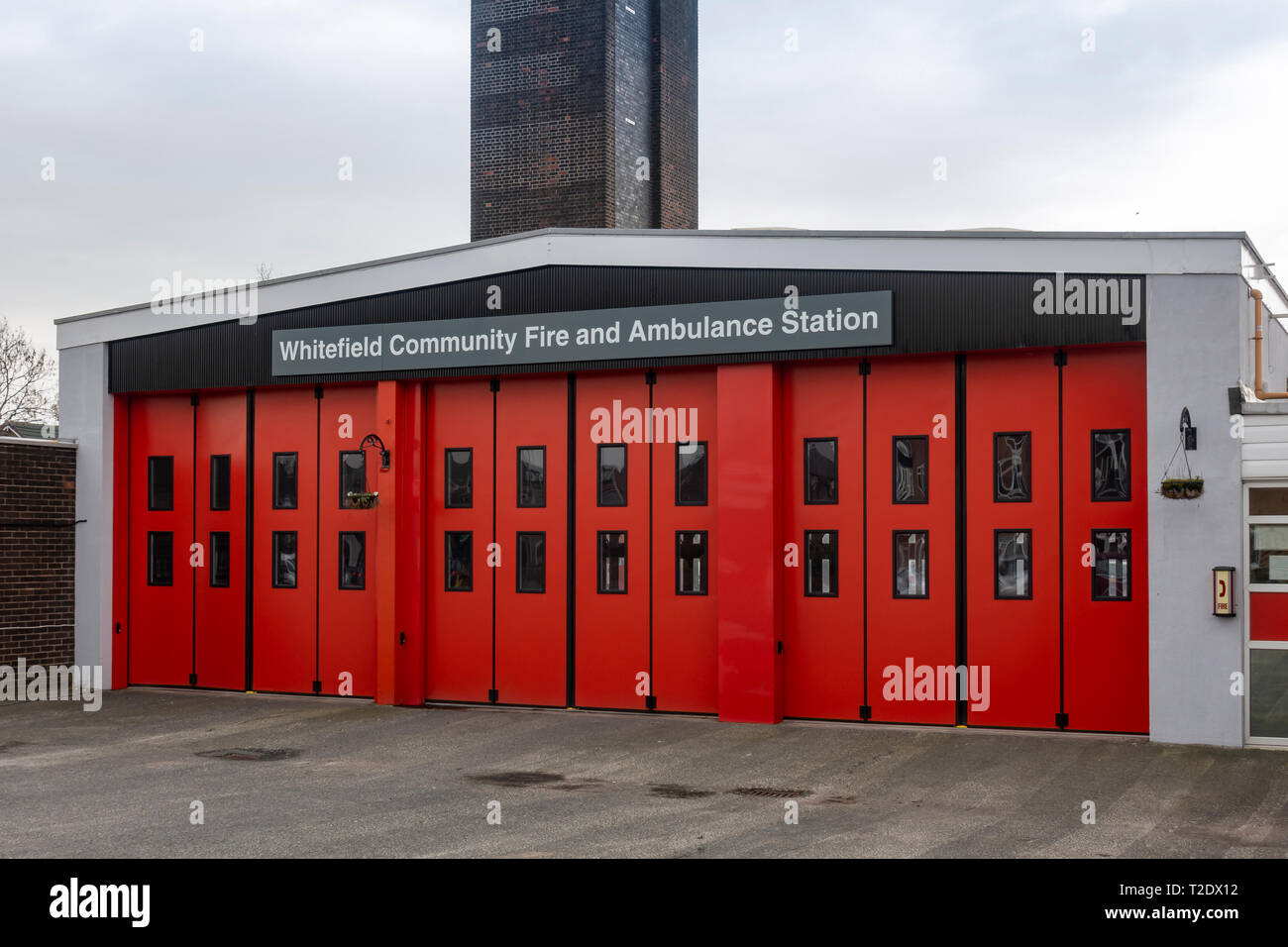 Whitefield Community Fire Station - Stock Image