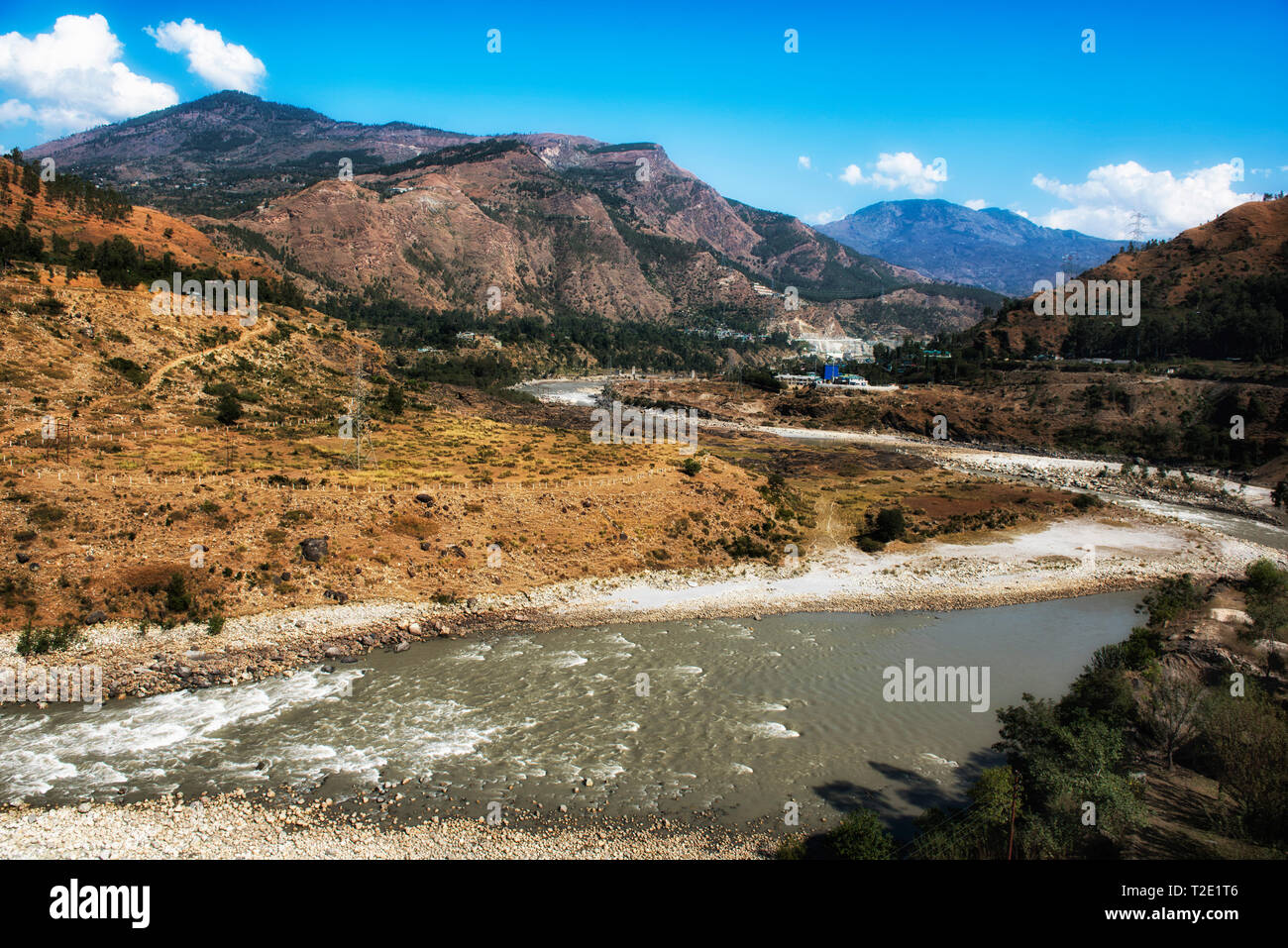 A river in Himachal Pradesh, India - Stock Image