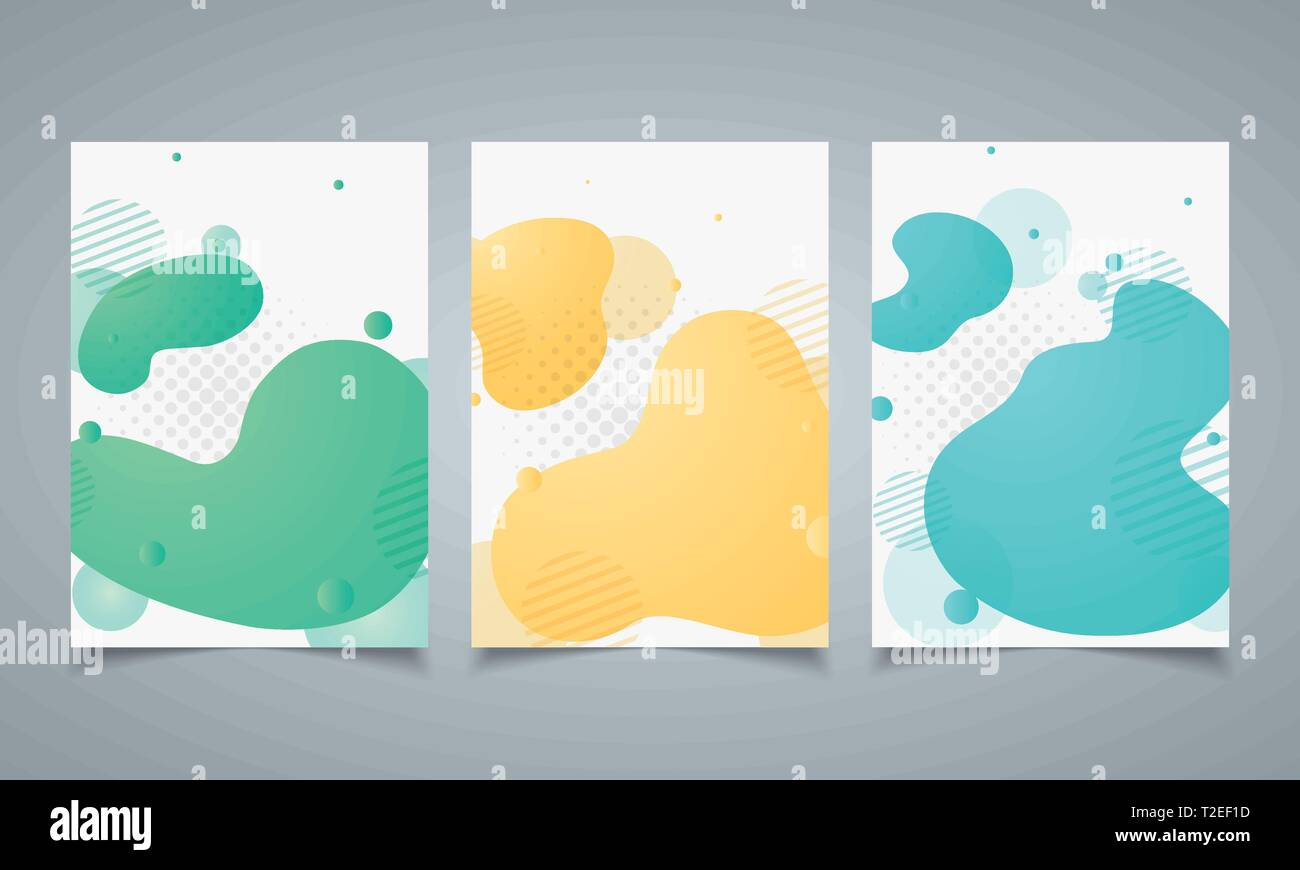 Abstract modern design geometric shape of elements brochure template. Dynamical colored forms pattern. Gradient abstract with dot halftone decorating. - Stock Vector