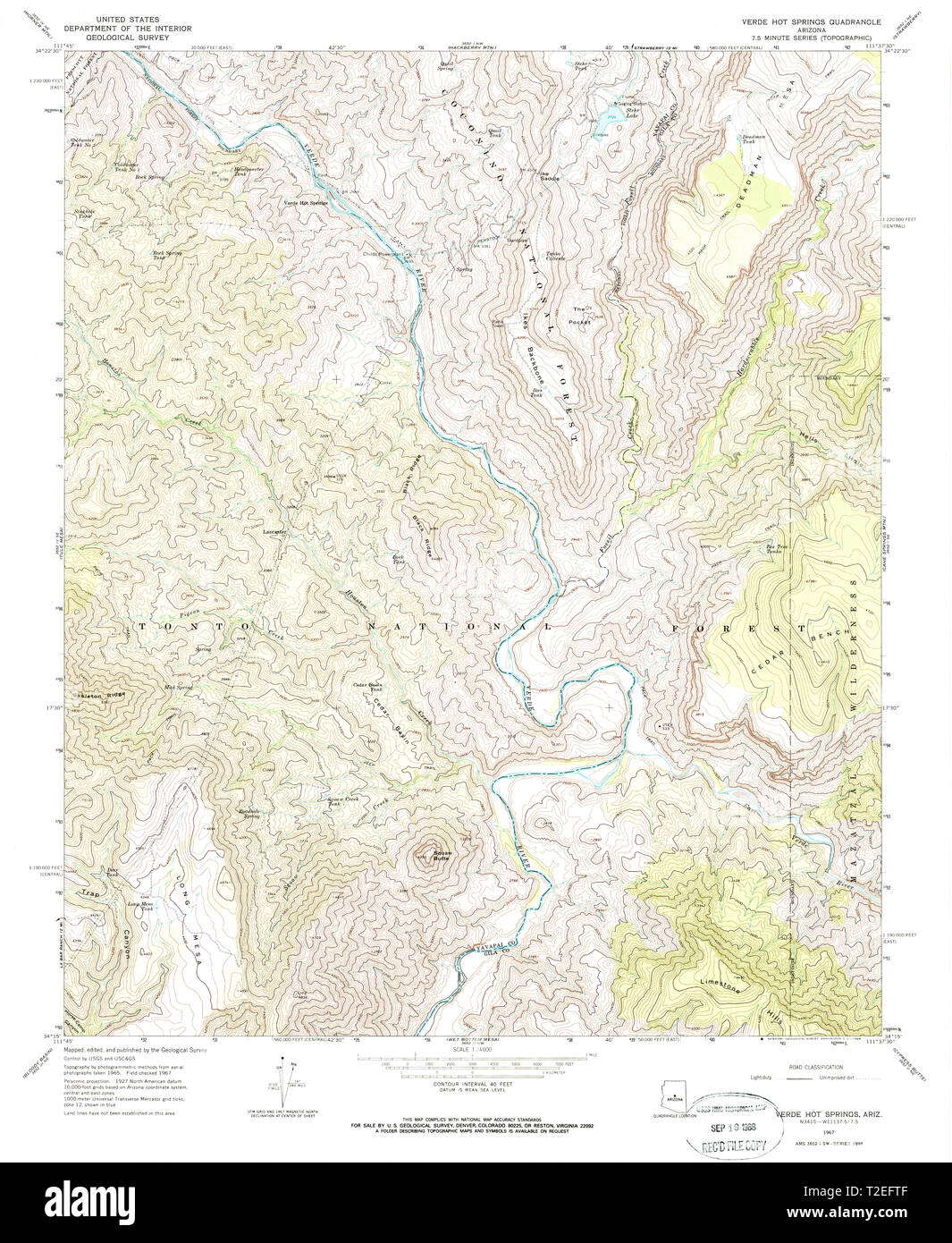 Map Of Arizona Hot Springs.Usgs Topo Map Arizona Az Verde Hot Springs 313929 1967 24000