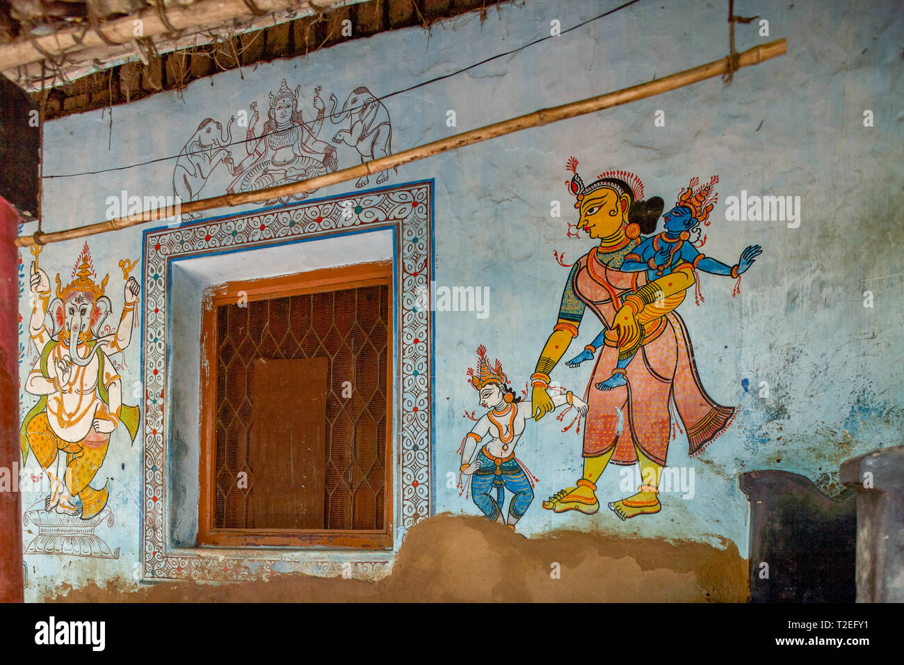 5 Jul 2007 Traditional Wall Painting Outside Ruler House Raghurajpur
