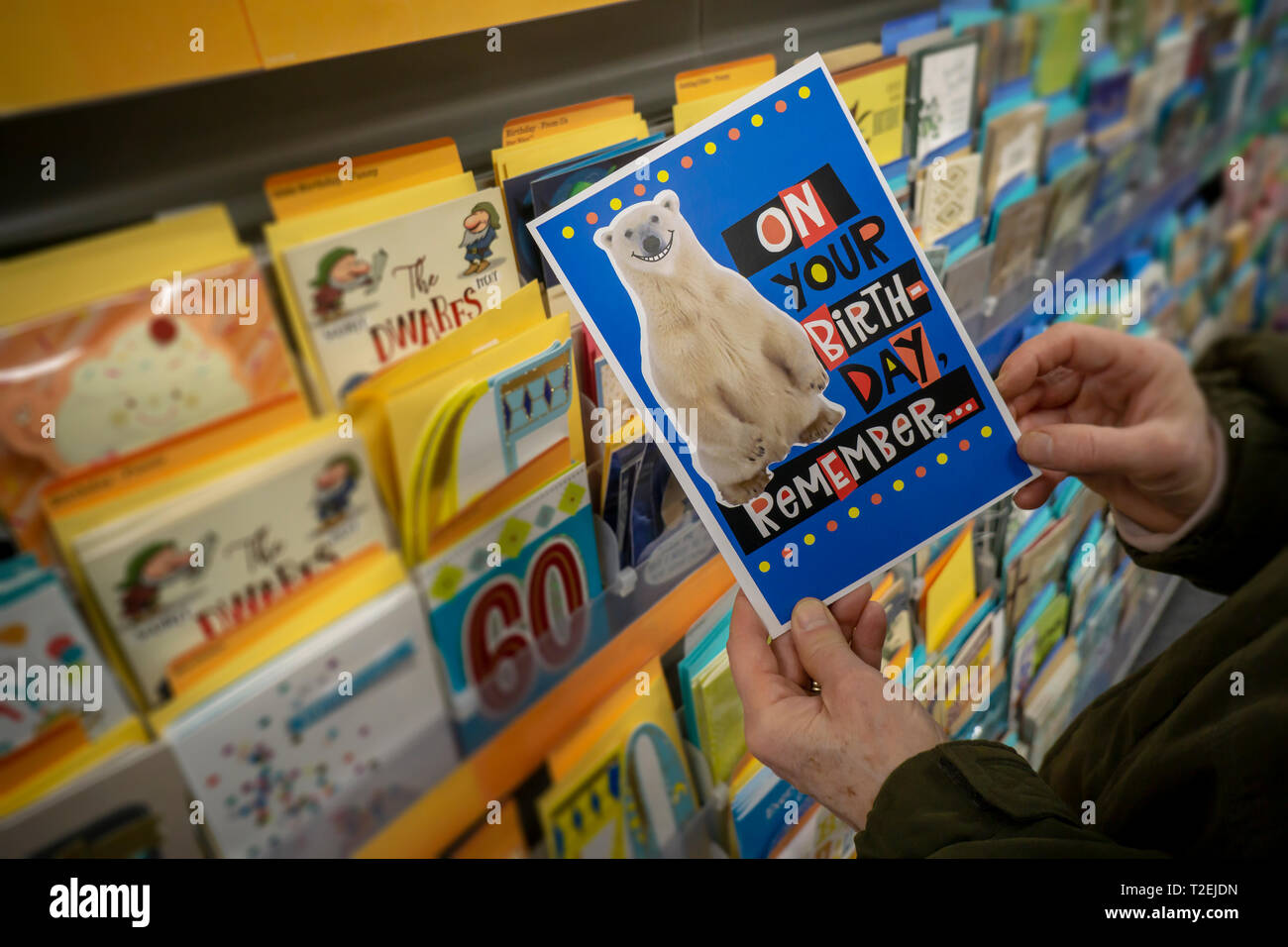 A Shopper Chooses Birthday Card From Display In Store New York On Tuesday March 26 2019 With The Exception Of Cards Costing Over 10 And Low End