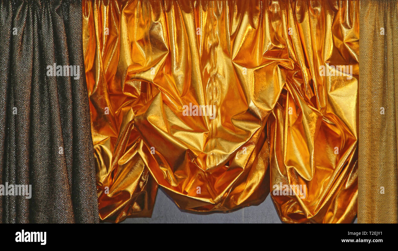 Strange Golden Curtains Stock Photos Golden Curtains Stock Images Interior Design Ideas Inamawefileorg