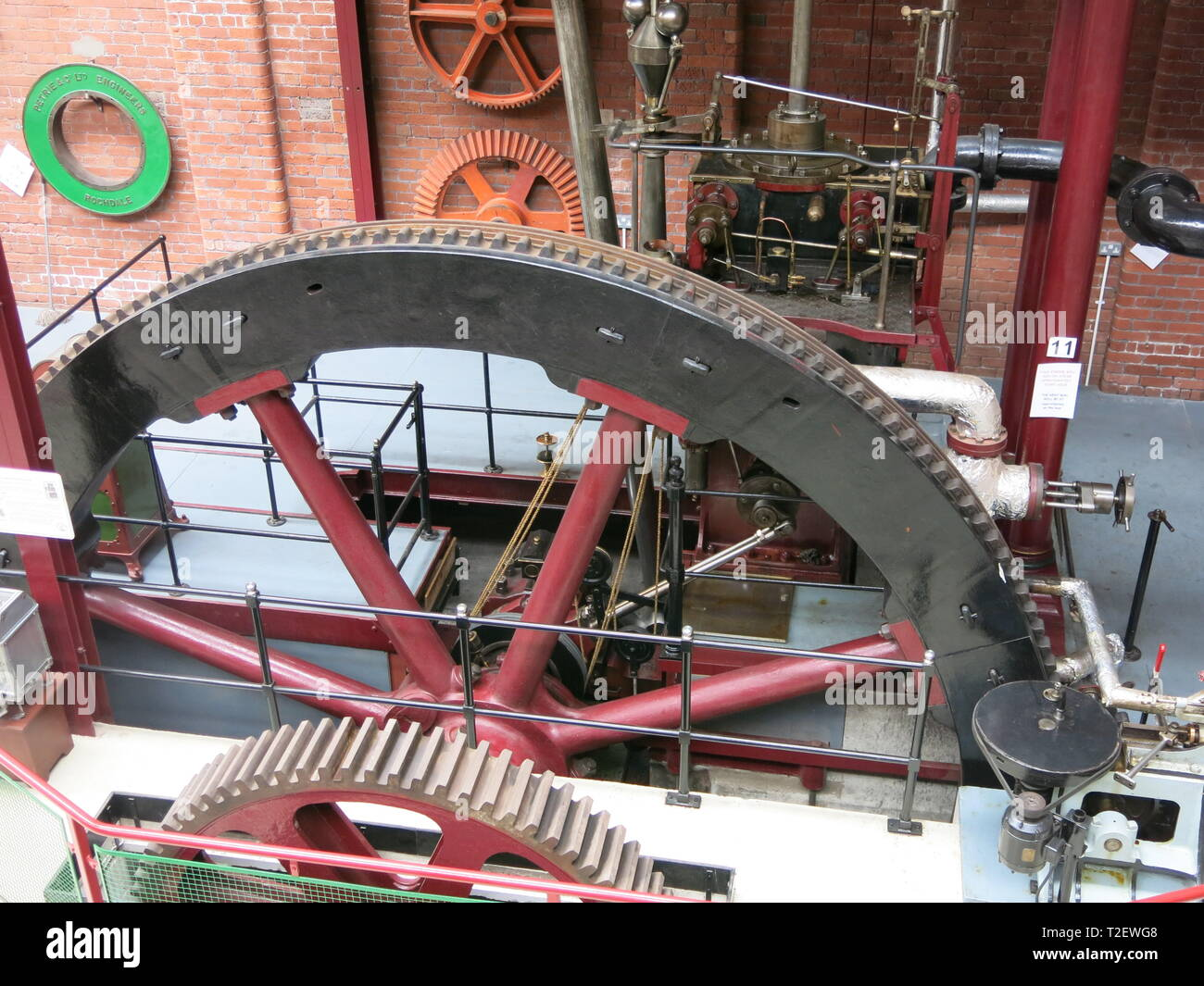 Housed in a Victorian cotton warehouse, Bolton Steam Museum has the UK's largest collection of working mill steam engines, operational on Steam Days. - Stock Image