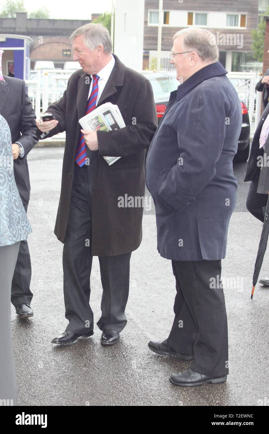 Chester,Uk Sir Alex Ferguson attends chester races credit Ian Fairbrother/Alamy Stock Photos - Stock Image
