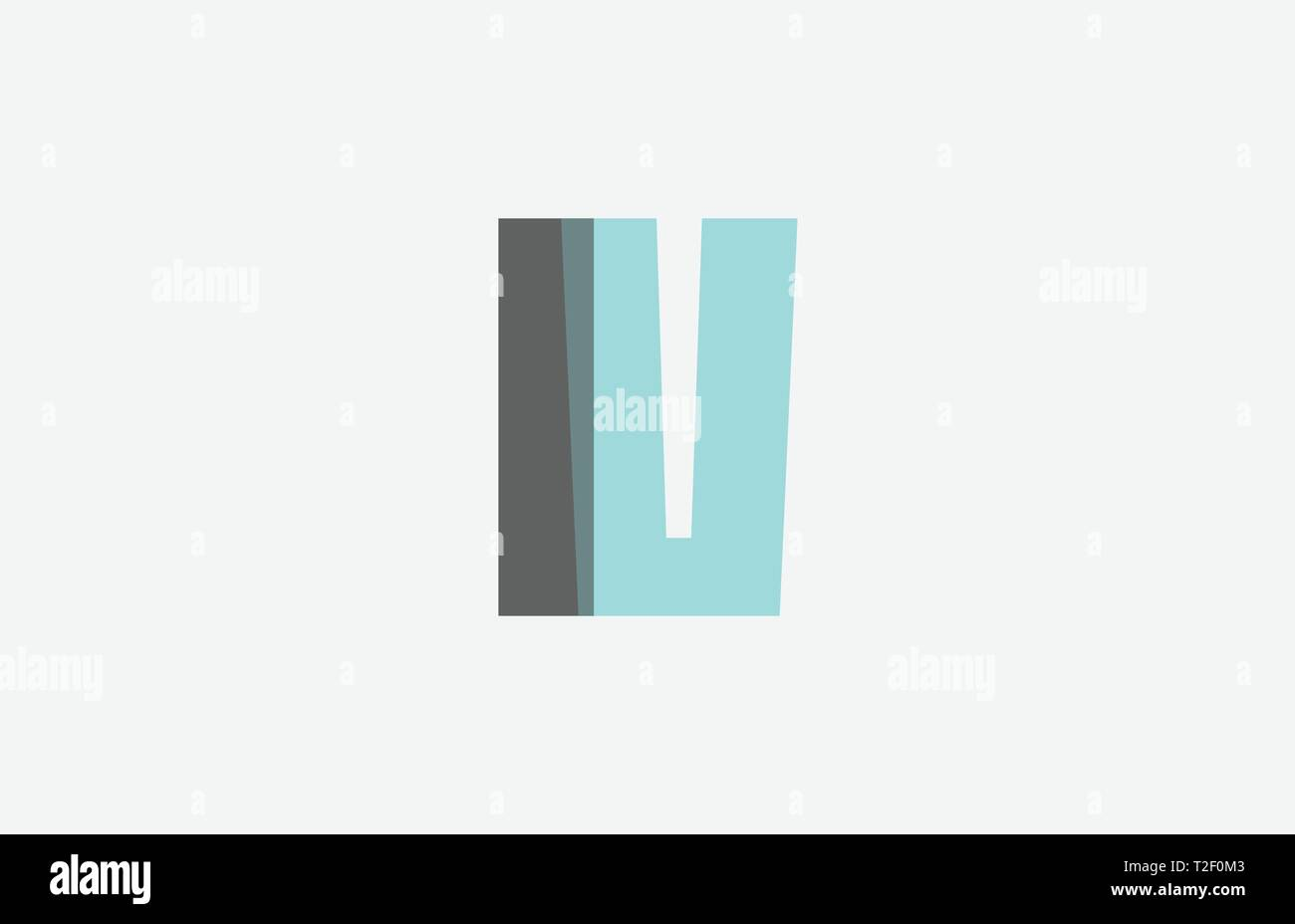 grey pastel blue alphabet letter IV I V logo combination design suitable for a company or business - Stock Vector