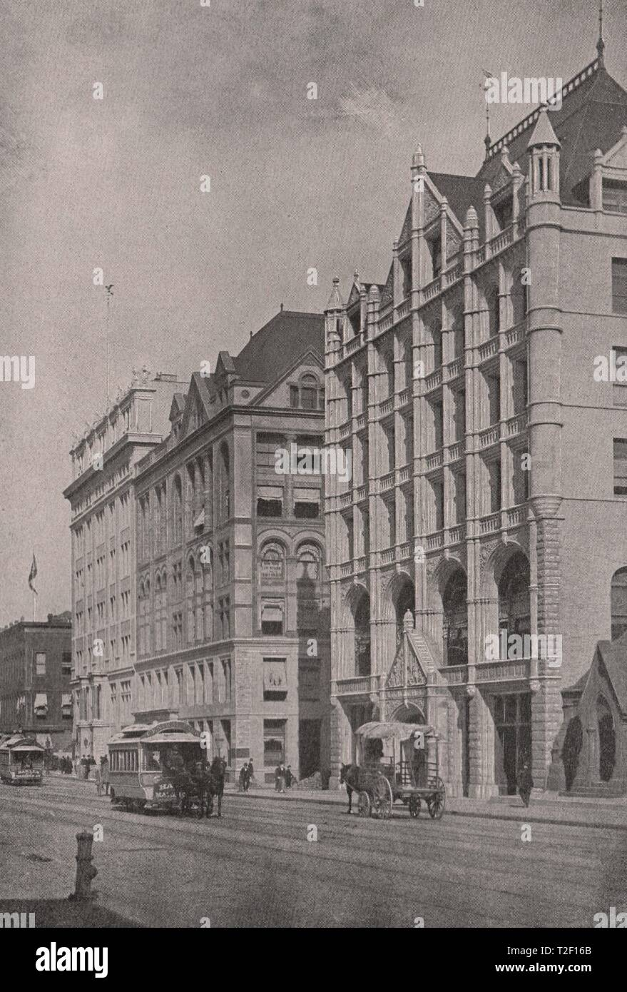 4th Avenue. 21st-23rd Streets; Society for Prevention of Cruelty to Children; United Charities Building; Church Missions House - Stock Image