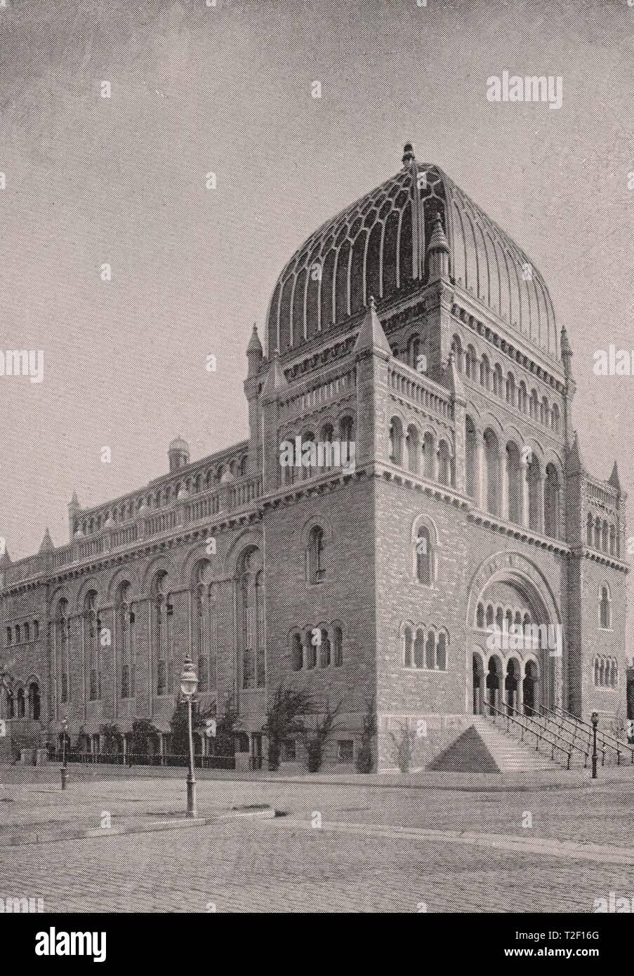 Temple Beth-El, Hebrew-Southeast Corner fifth Avenue and Seventy-Sixth Street - Stock Image