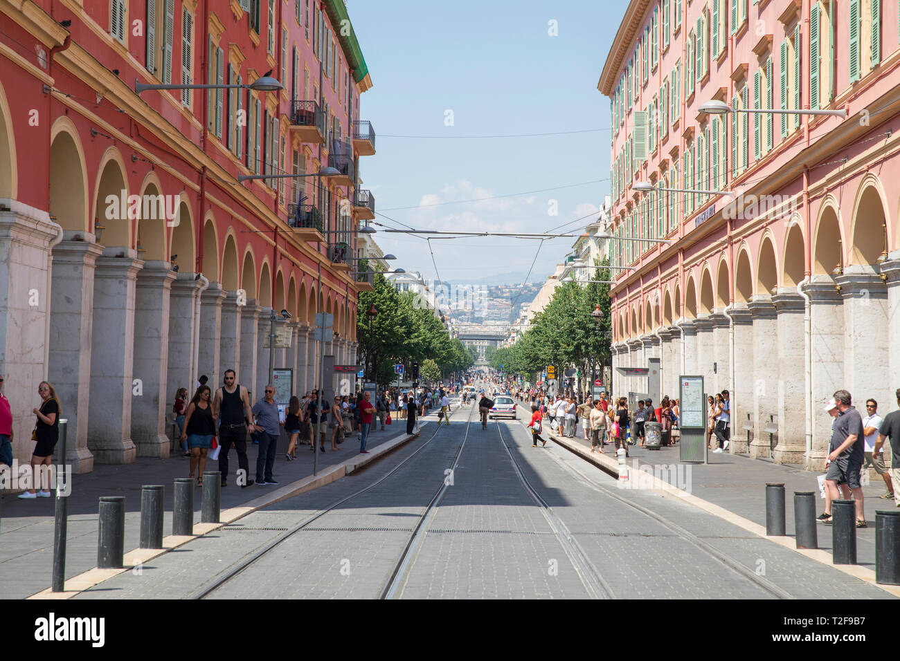 e83f00c3a43 Looking down Avenue Jean Médecin, a street located in the centre of Nice,  France
