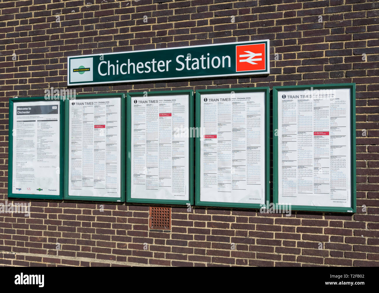 Railway Timetable Stock Photos & Railway Timetable Stock