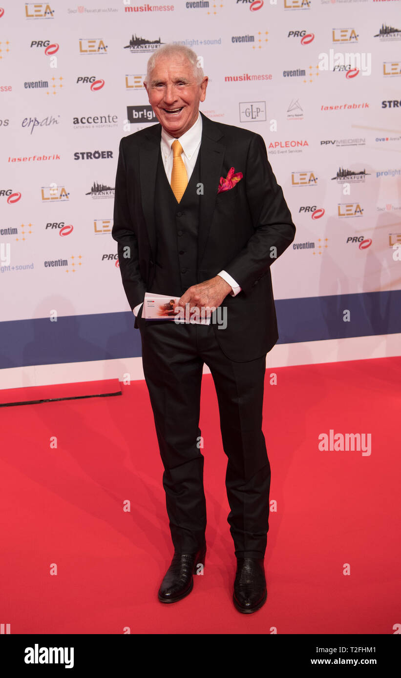 01 April 2019, Hessen, Frankfurt/Main: Frederic Prince of Anhalt is on the red carpet. The German Live Entertainment Award (LEA) honours concert and show organisers, managers, agents and venue operators from German-speaking countries. Photo: Andreas Arnold/dpa - Stock Image