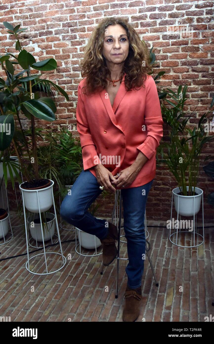 Singer Lolita Flores during the presentation of the campaign ' Nivea : mujer vital ' in Madrid on Tuesday, 02 April 2019.   Cordon Press - Stock Image
