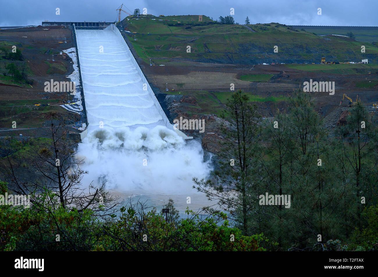Oroville Dam Spillway Stock Photos & Oroville Dam Spillway Stock