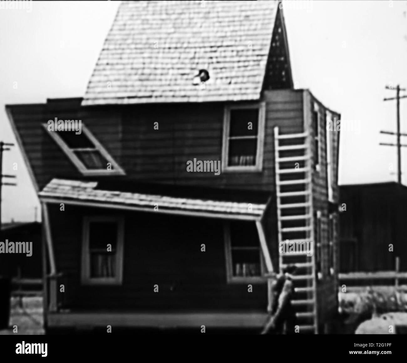vintage film still 1920 Buster Keaton - Stock Image