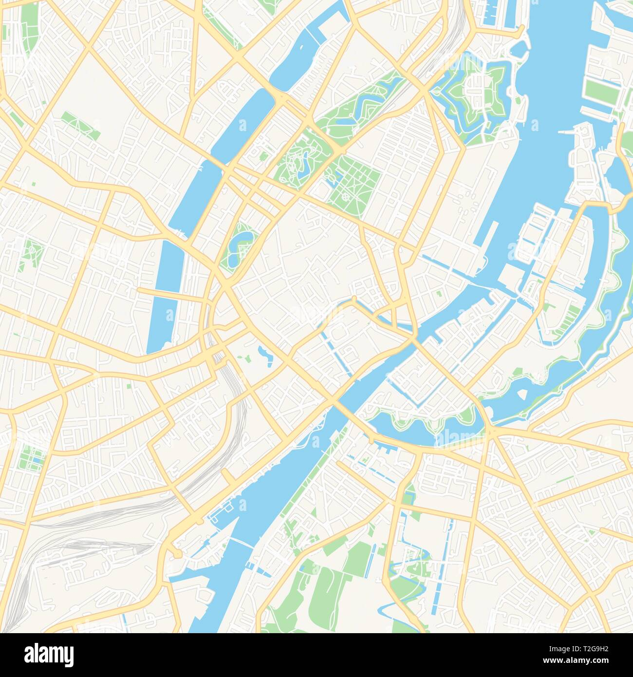 Image of: Printable Map Of Copenhagen Denmark With Main And Secondary Roads And Larger Railways This Map Is Carefully Designed For Routing And Placing Individ Stock Vector Image Art Alamy