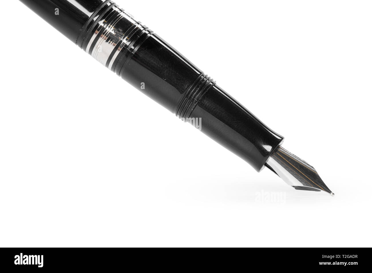 fountain pen isolated on white background - Stock Image