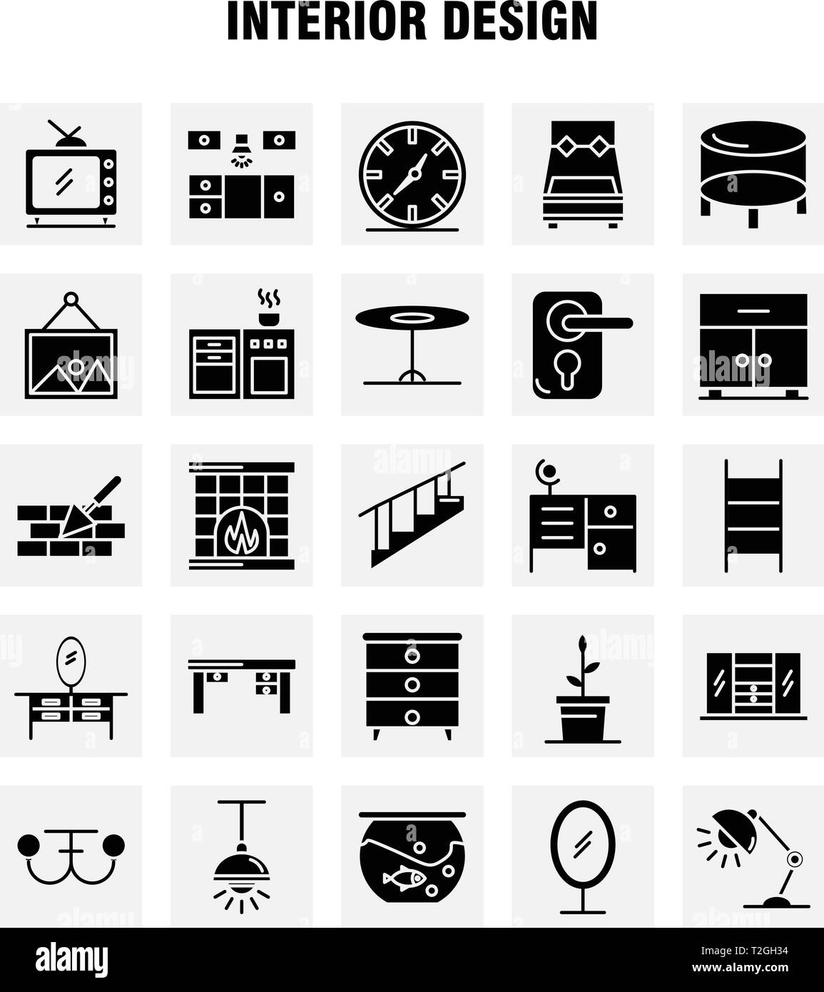 Interior Design Solid Glyph Icons Set For Infographics Mobile Ux Ui Kit And Print Design Include Bedroom Cupboard Furniture House Wardrobe Tel Stock Vector Image Art Alamy,Best Decorated Homes For Christmas