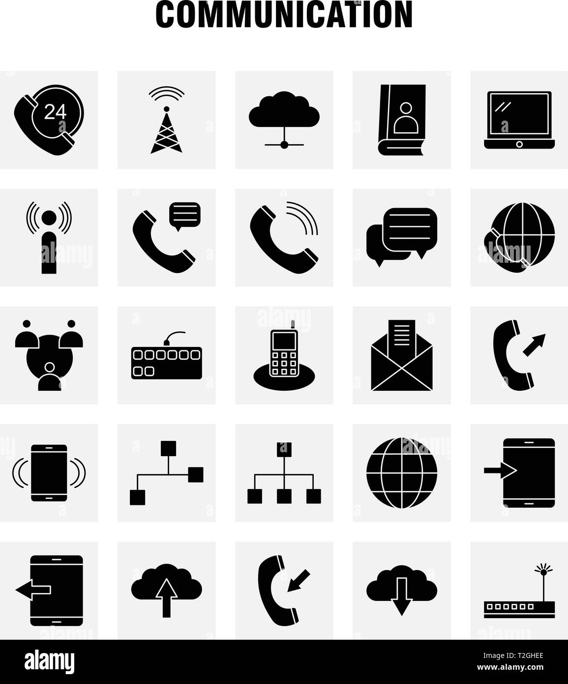 Fashion Solid Glyph Icons Set For Infographics, Mobile UX/UI Kit And Print Design. Include: Date, Day, Month, Event, Crown, King, Hat, Jewel, Collecti - Stock Image