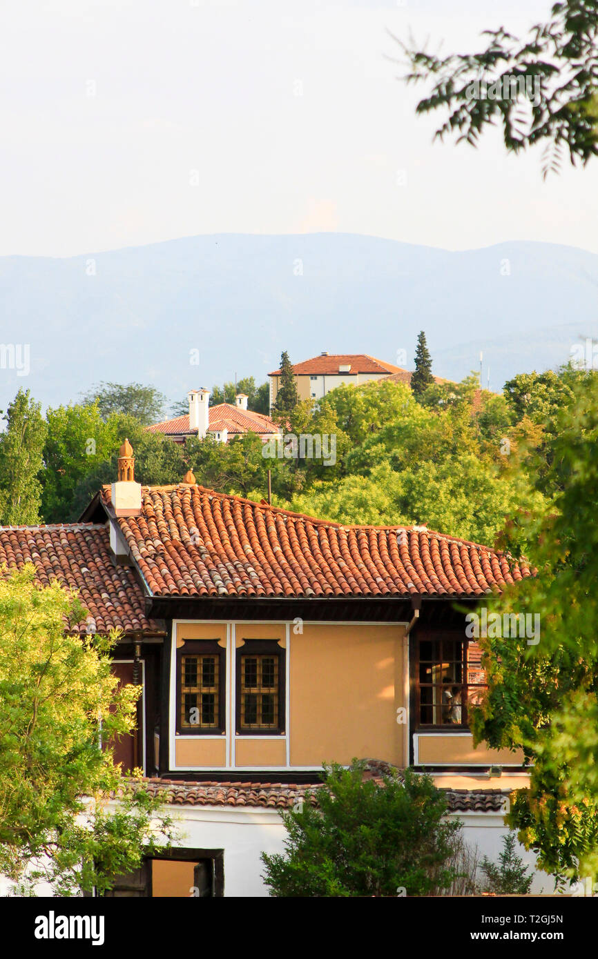 View of the old town in Plovdiv, Bulgaria Stock Photo