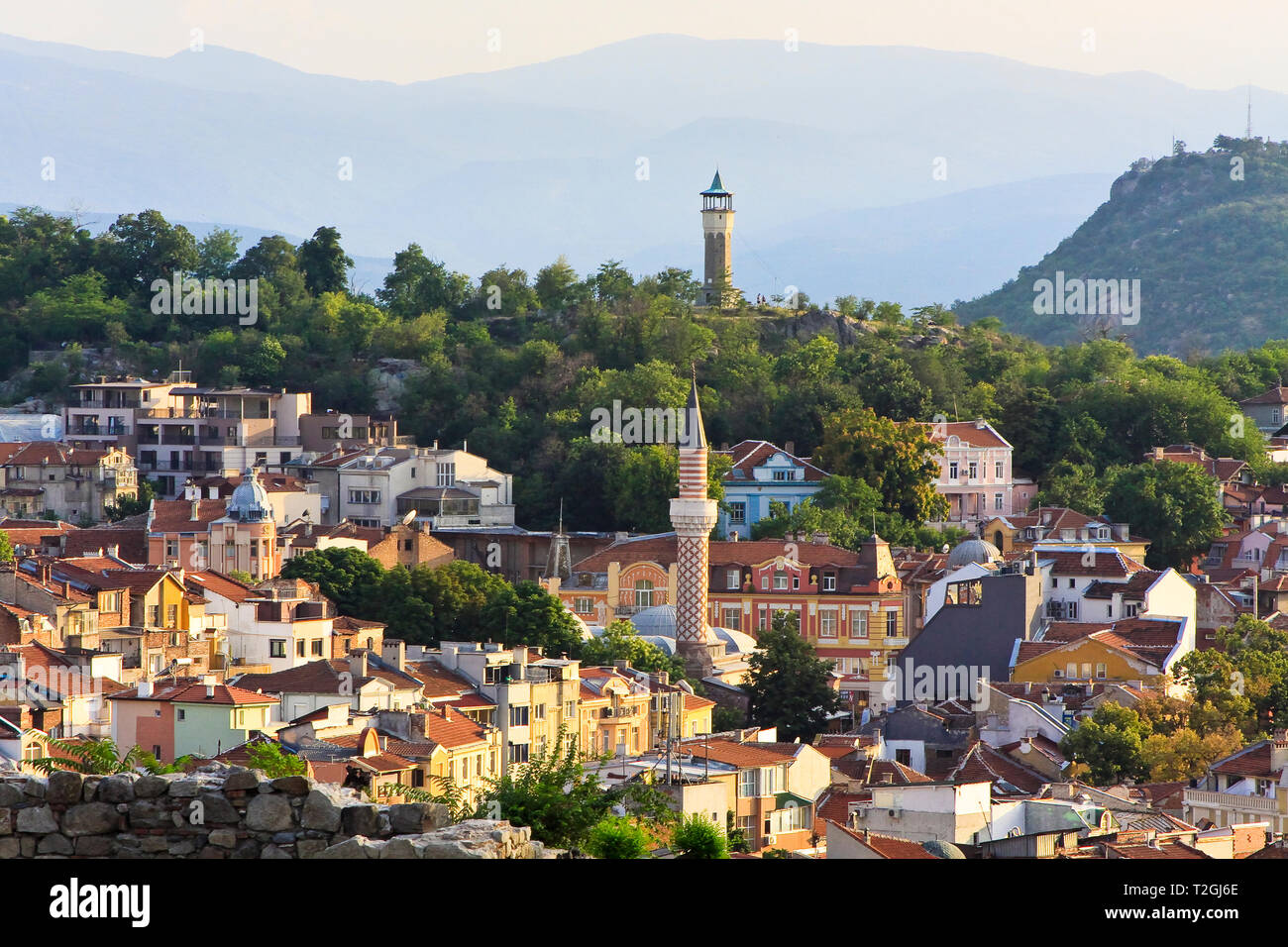 View of the city of Plovdiv, Bulgaria Stock Photo