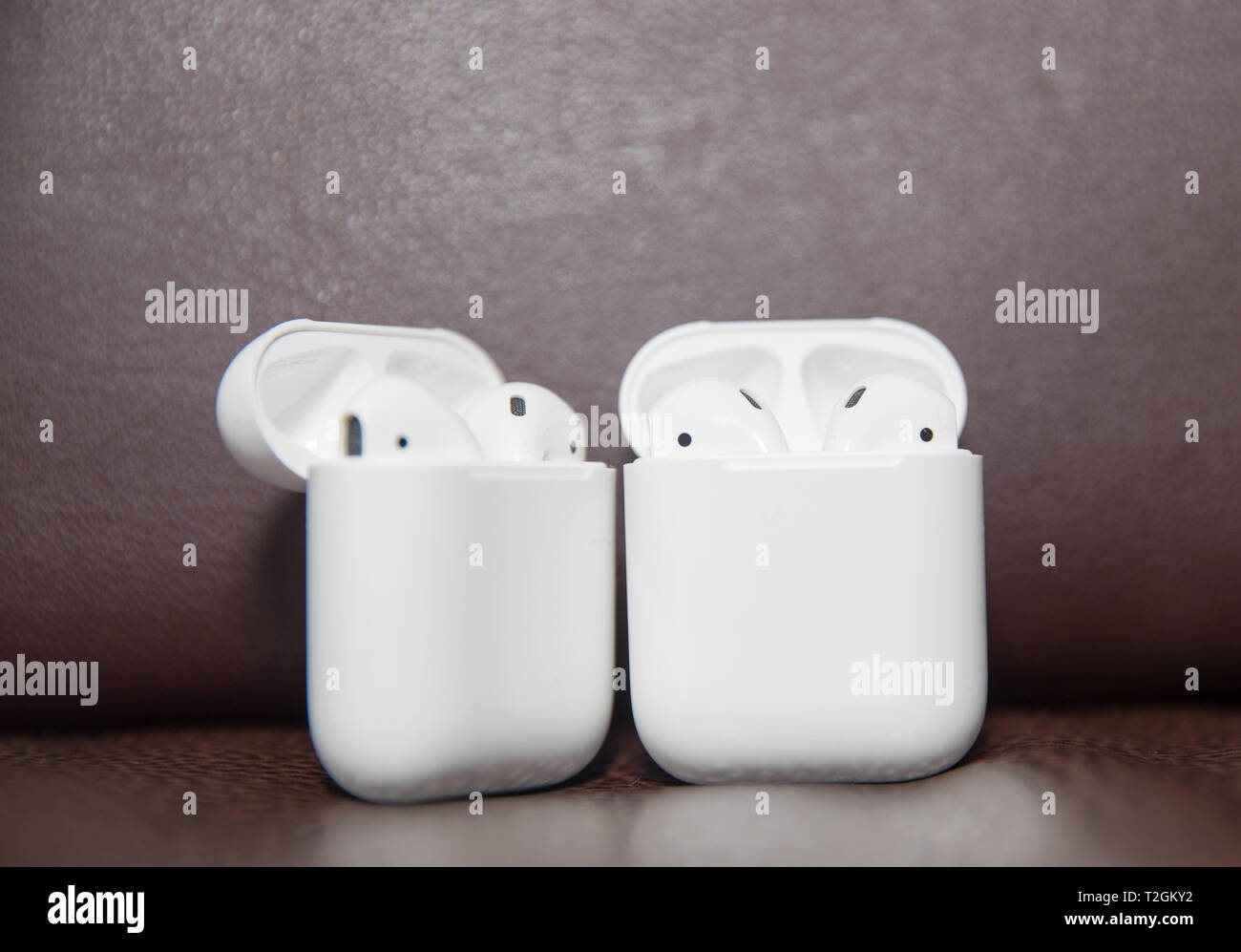 newest 58a32 18a2b Lawrence Township New Jersey, March 11, 2019:Apple AirPods wireless ...