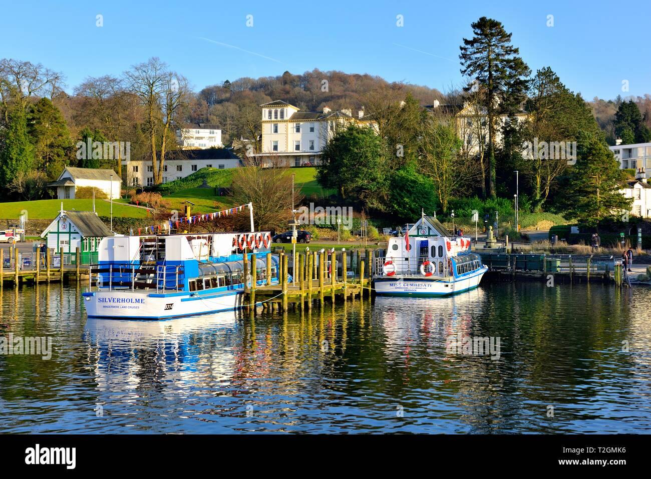 Bowness on Windermere,Lake Windrmere,Lake District,Cumbria,England,UK Stock Photo