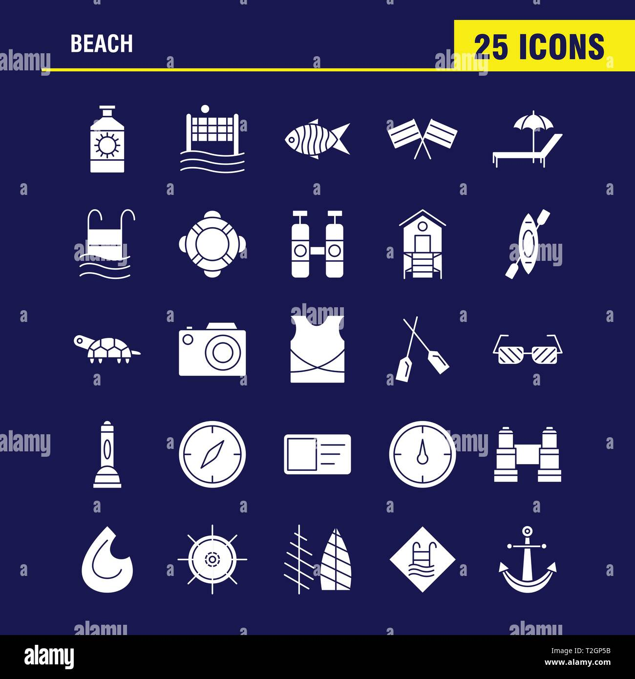 Beach Solid Glyph Icon for Web, Print and Mobile UX/UI Kit. Such as: Protein, Bottle, Drink, Sport, Beach, Net, Sports, Volley, Pictogram Pack. - Vect - Stock Vector
